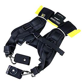 CADEN Double Shoulder Belt Strap for 2 Cameras SLR DSLR