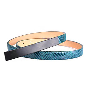 Women's Leather Slide Buckle Belt(103 1.7 0.3CM)