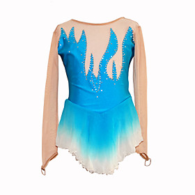 Girl's Fire Figure Skating Dress (Light Blue)