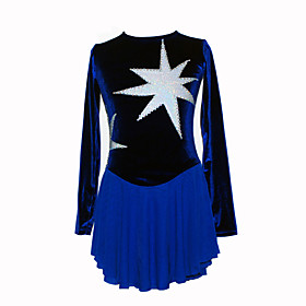 Girl's Laser Figure Skating Dress (Dark Blue)