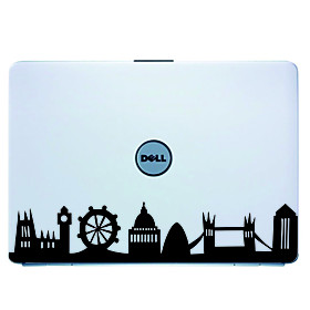 London Laptop Skin Cover Art Decal Sticker for MacBook Air Pro/Dell/HP/Compaq/Acer/Lenovo/Sony (Blac