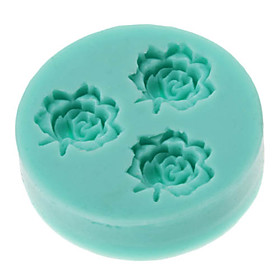 DIY Baking 3D Three Flowers Shaped Silicone Cake Soap Mold