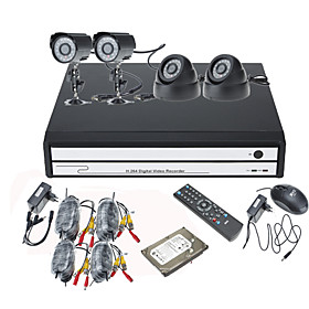 Home   Office Security Monitoring 4 Channel Kit(Including 500G Harddisk)