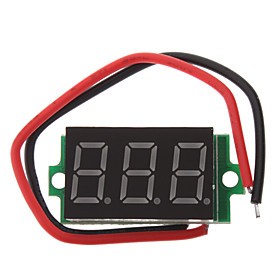 DIY 3-Digit LED Digital Voltmeter Module for Car  Motorcycle  Electric Vehicle (4~30V)