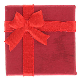 Bowknot Style Cuboids Shape Small Ring Gift Box (Contain 6 Boxes)
