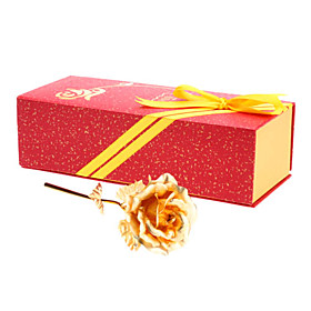 24K 6 Gold Foil Rose Best Gift for Valentine's Day, Wedding Anniversary, Birthday and Christmas (Exq