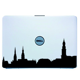 Hamburg Laptop Skin Cover Art Decal Sticker for MacBook Air Pro/Dell/HP/Compaq/Acer/Lenovo/Sony (Bla