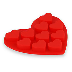 Red Heart Shaped Organic Silicone Ice Tray