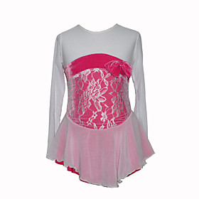 Girl's Chiffon Figure Skating Dress (Pink)