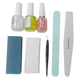 1PCS Nail Art Kit of Stainless Steel Callus Trimmer with 3 Bottles of Nail Polish