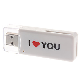 Hi-speed USB 2.0 Card Reader for MS/SD/MMC/TF Memory Card