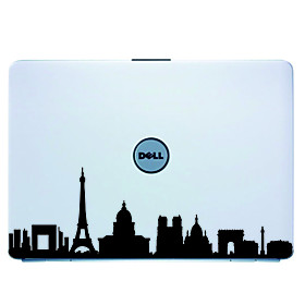 Paris Laptop Skin Cover Art Decal Sticker for MacBook Air Pro/Dell/HP/Compaq/Acer/Lenovo/Sony (Black