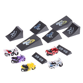 Eco-friendly Pull and Go Mini Racing Motorbike Set with Tracks