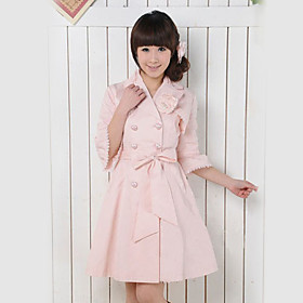 Half-Sleeve Pink Cotton Lace Trim Sweet Lolita Coat