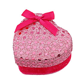 Christmas Ornaments Bowknot Peach Heart Shaped Jewelry Box