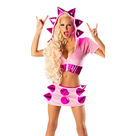 Cute Pink With Soft Rivets Animal Costumes(2 Pieces)