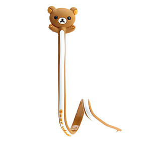 Cute Bear Design Cable Cord Holder Wire Winder for iPhone 5 and Others (Assorted Colors)