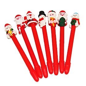 Cute Santa Claus Snowman Shaped Soft Ball Pen (Random Pattern)
