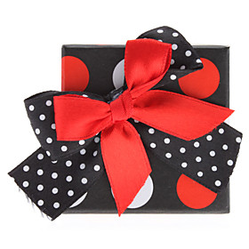 Speckle Bowknot Style Cuboids Shape Small Ring Gift Box (Contain 6 Boxes)