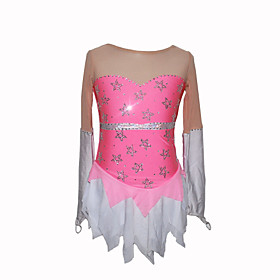 Girl's Grenadine Figure Skating Dress (Pink)