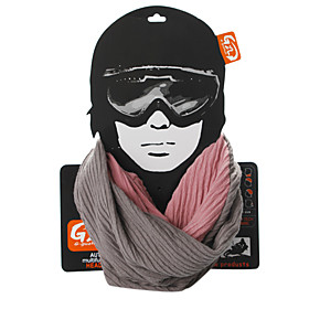 Super Soft and Comfortable Pure Cotton Cycling Scarf (Gray and Pink)