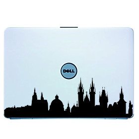 Prague Laptop Skin Cover Art Decal Sticker for MacBook Air Pro/Dell/HP/Compaq/Acer/Lenovo/Sony (Blac