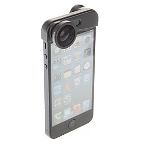 Fish Eye, Wide Angle and Macro Lens 3-in-1 Quick-Change Camera Lens for iPhone 5