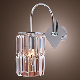 Crystal Wall Light with Cylinder Shape Design