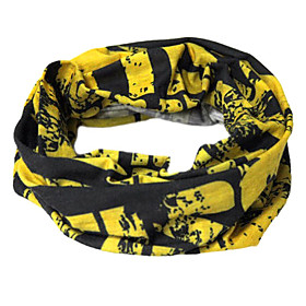 Comfortable Cycling Scarf (Black and Yellow)