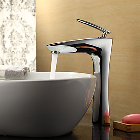 Sprinkle by Lightinthebox - Contemporary Chrome Finish Bathroom Sink Faucet (Tall)
