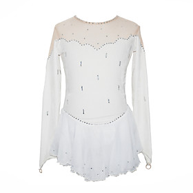 Girl's Figure Skating Dress (White)