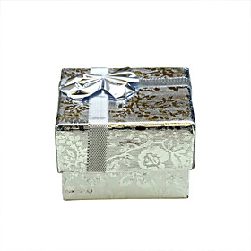 Silver Reflective Material Jewelry Gift Box