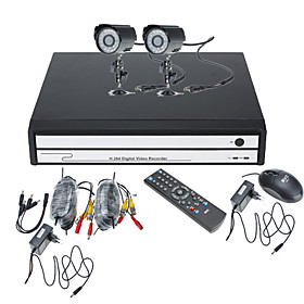 Do it Yourself CCTV System with 2 Cameras for Home   Office
