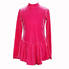 Girl's Figure Stretch Skating Dress (Fuchsia)