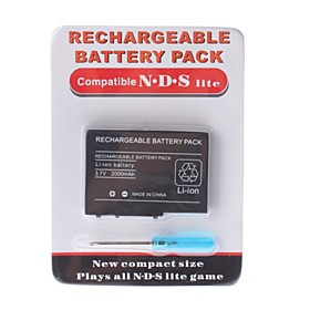 Rechargeable Battery Pack for Nintendo DS Lite   Screwdriver (2000mAh)
