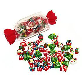 Candy Box Christmas Theme Mini Eraser Set