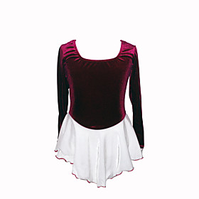 Girl's Figure Skating Dress (Purple Top White Skirt)