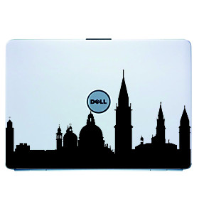 Venice Laptop Skin Cover Art Decal Sticker for MacBook Air Pro/Dell/HP/Compaq/Acer/Lenovo/Sony (Blac