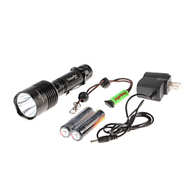 UniqueFire UF-T04 3-Mode Cree XM-L U2 LED Rechargeable Flashlight Set (1x18650)