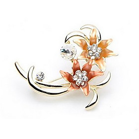 Women's Elegant Flower Brooch