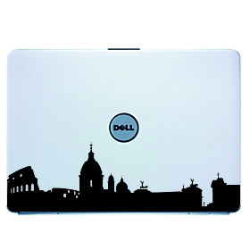 Rome Laptop Skin Cover Art Decal Sticker for MacBook Air Pro/Dell/HP/Compaq/Acer/Lenovo/Sony (Black)