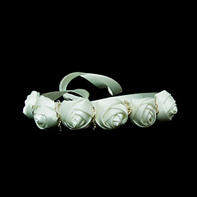 Elegant Satin With Flower Women's Headbands