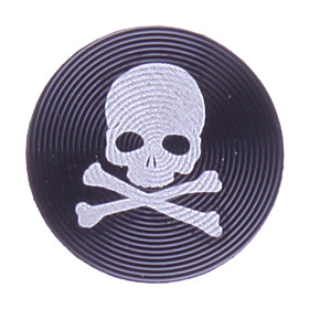 Skull Design Aluminum Alloy Home Button Sticker for iPhone5/iPad mini and Others