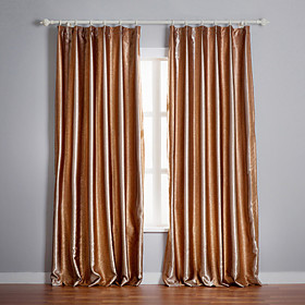 Khaki Stripe Jacquard Blackout Curtains (Two Panels)
