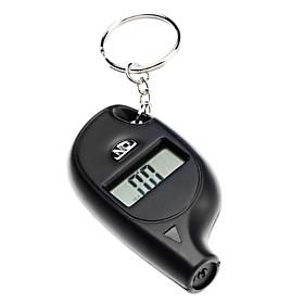 Mini Portable 0.8 LCD Digital Tire Pressure Gauge Keychain (Black, 1xCR2025)