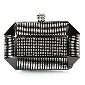 Charming Metal with Crystal Evening Handbag/Clutches(More Colors)