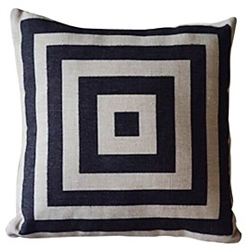 Geometric Pattern Cotton/Linen Decorative Pillow Cover 021