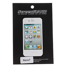 Protective Clear Screen Protector with Cleaning Cloth for Nano 7