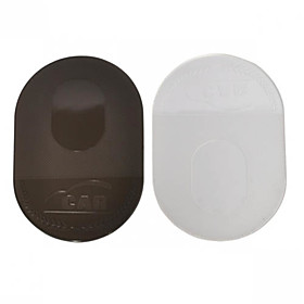 Anti-slip Pad (Transparent,Black  Oval Shape)