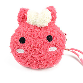 Cartoon Plush Hang Rope Change Purse